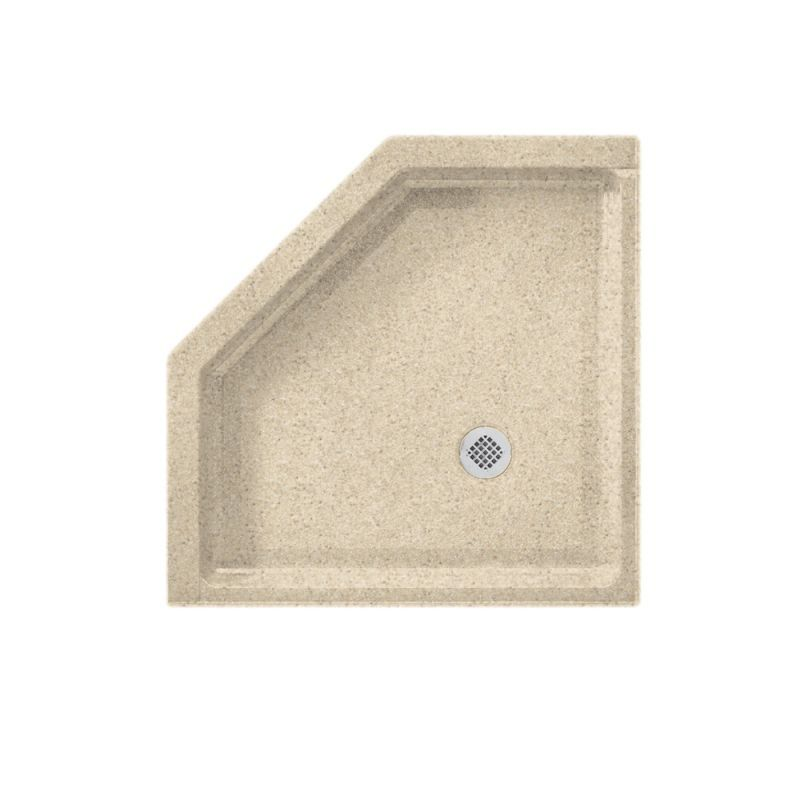 Swan Solid Surface 36 In X 36 In Neo Angle Shower Base With Center