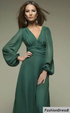 Long Sleeve Chiffon Dresses