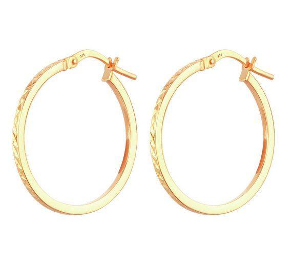 Revere 9ct Gold Diamond Cut Hoop Creoles At Argos Co Uk Visit