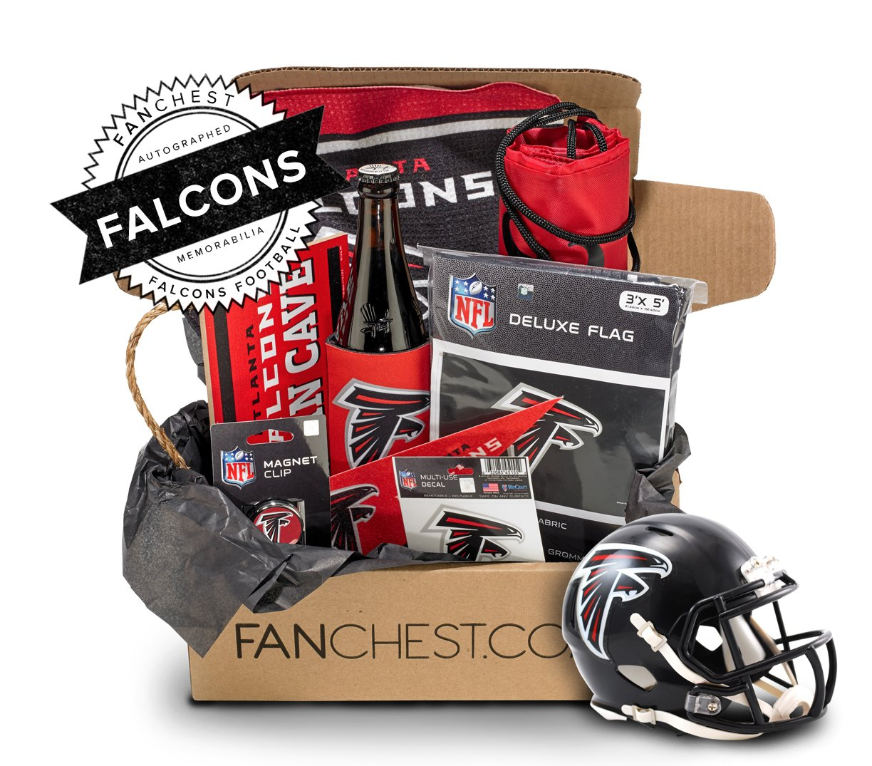 Atlanta Falcons Memorabilia Gift Box Signed Mini Helmet Included Atlanta Falcons Gifts Atlanta Falcons Atlanta Falcons Gear