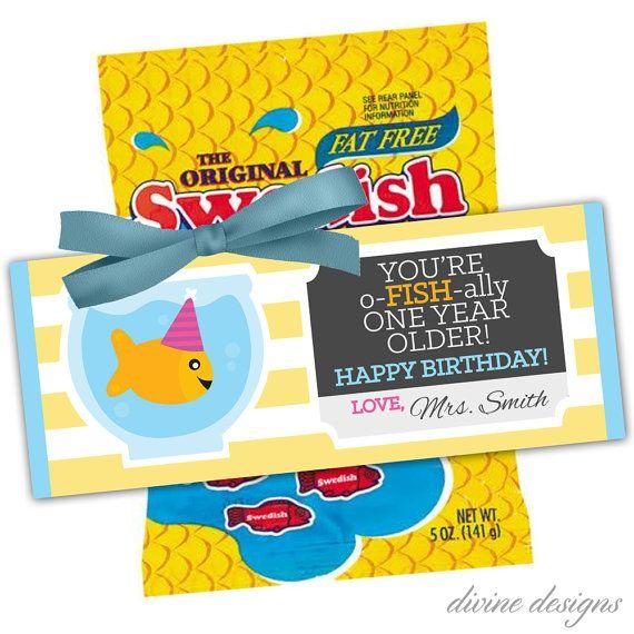 Child Birthday Gift Printable O Fish Ally Birthday Card Instant