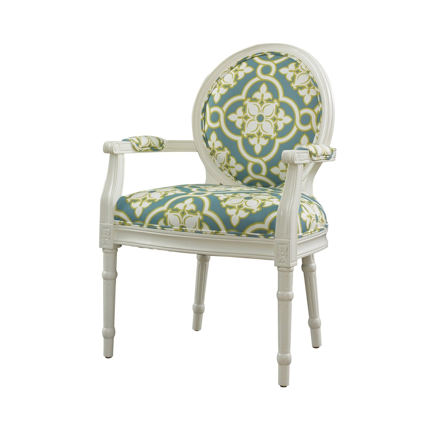 White And Teal Ghost Chair Powell Furniture Furniture