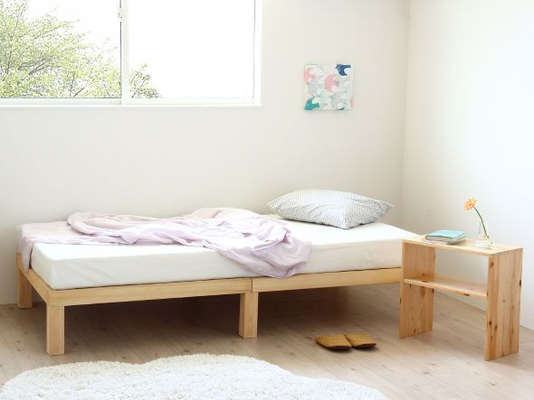 FLYMEe Japan-Style Homecoming 桐のすのこ シングルベッド(角脚)