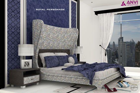 Handcrafted Swarovski Crystal Bed Bedroom Set Luxury Furniture Furniture