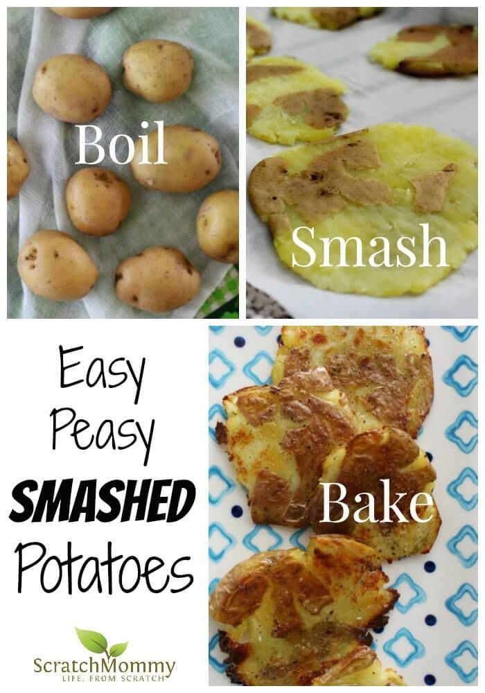 Running short on time, but still need to get something nourishing on the table? You need our easy peasy smashed potatoes recipe.- Scratch Mommy