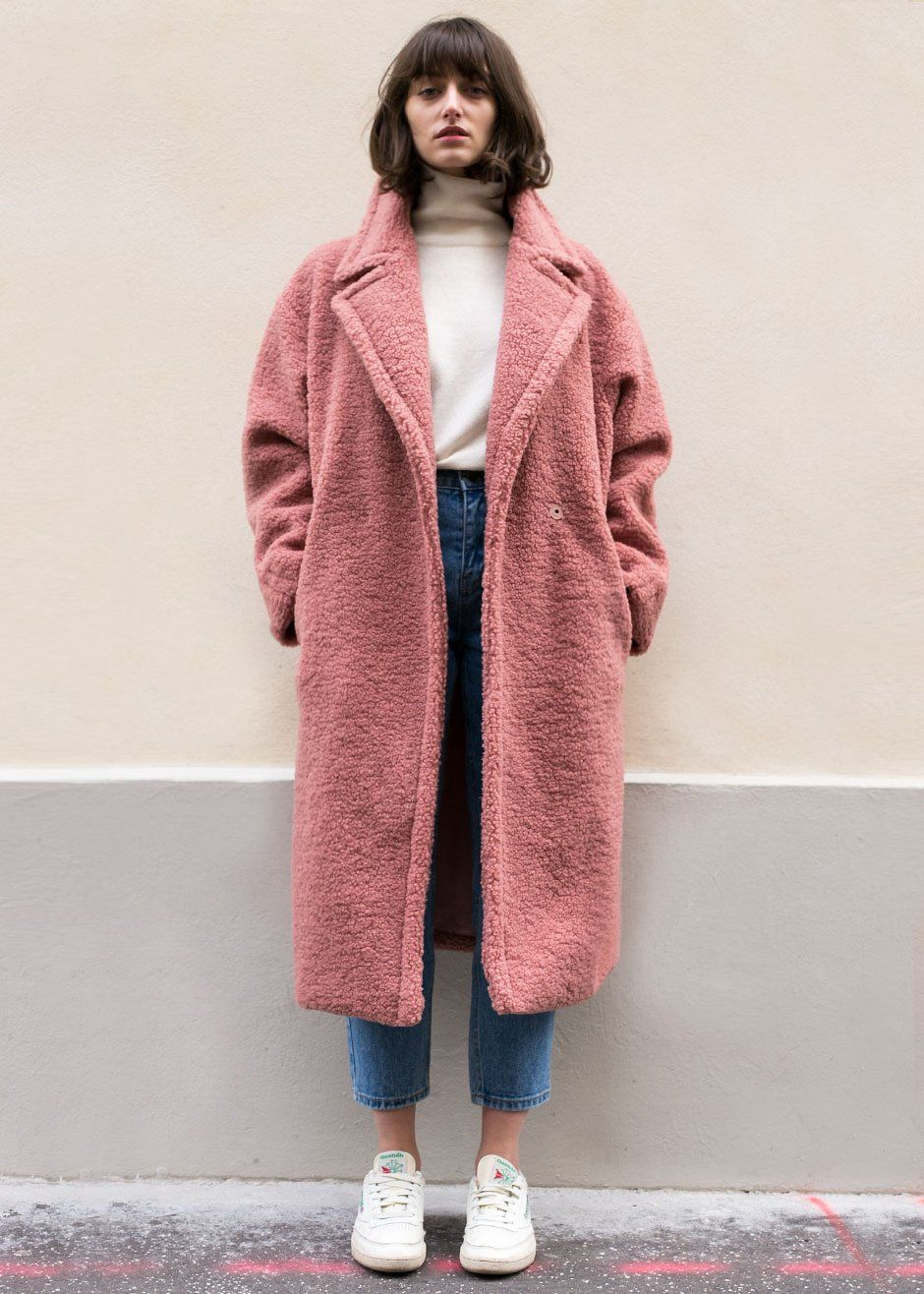 5f5179fec3420 Soft Pink Teddy Bear Coat – The Frankie Shop