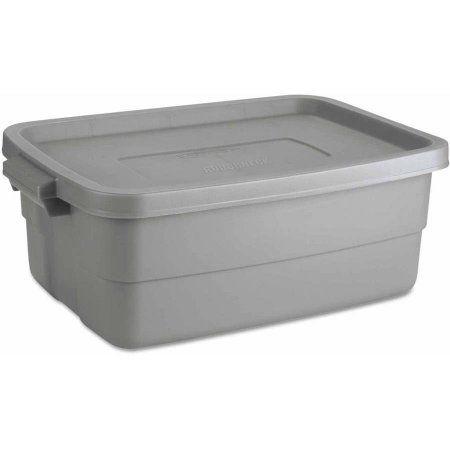 Rubbermaid Roughneck Storage Box 10 Gal Steel Gray Walmart Com In 2020 Grey Storage Storage Box Rubbermaid