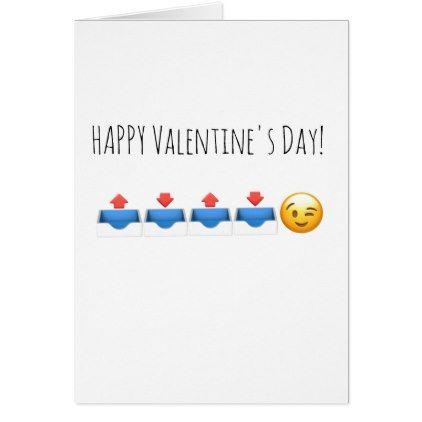 Valentine Birthday Emoji In Out Happy Anniversary Card