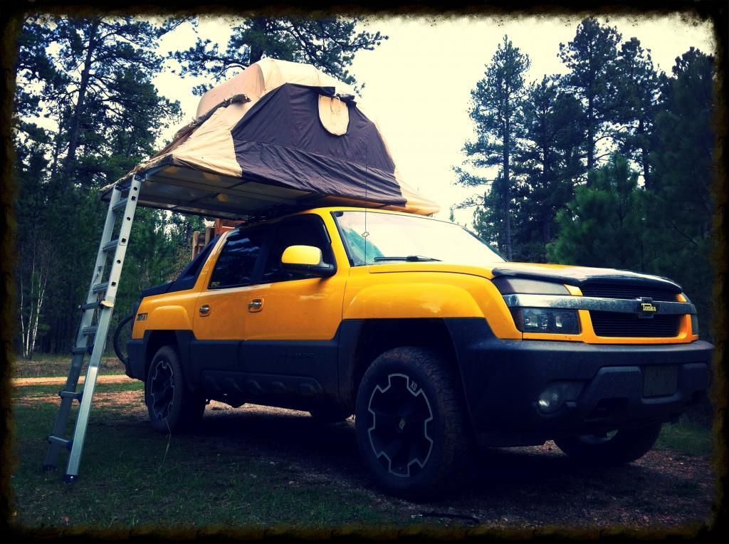 Roof Top Tent On AV · Chevy AvalancheRoof ...