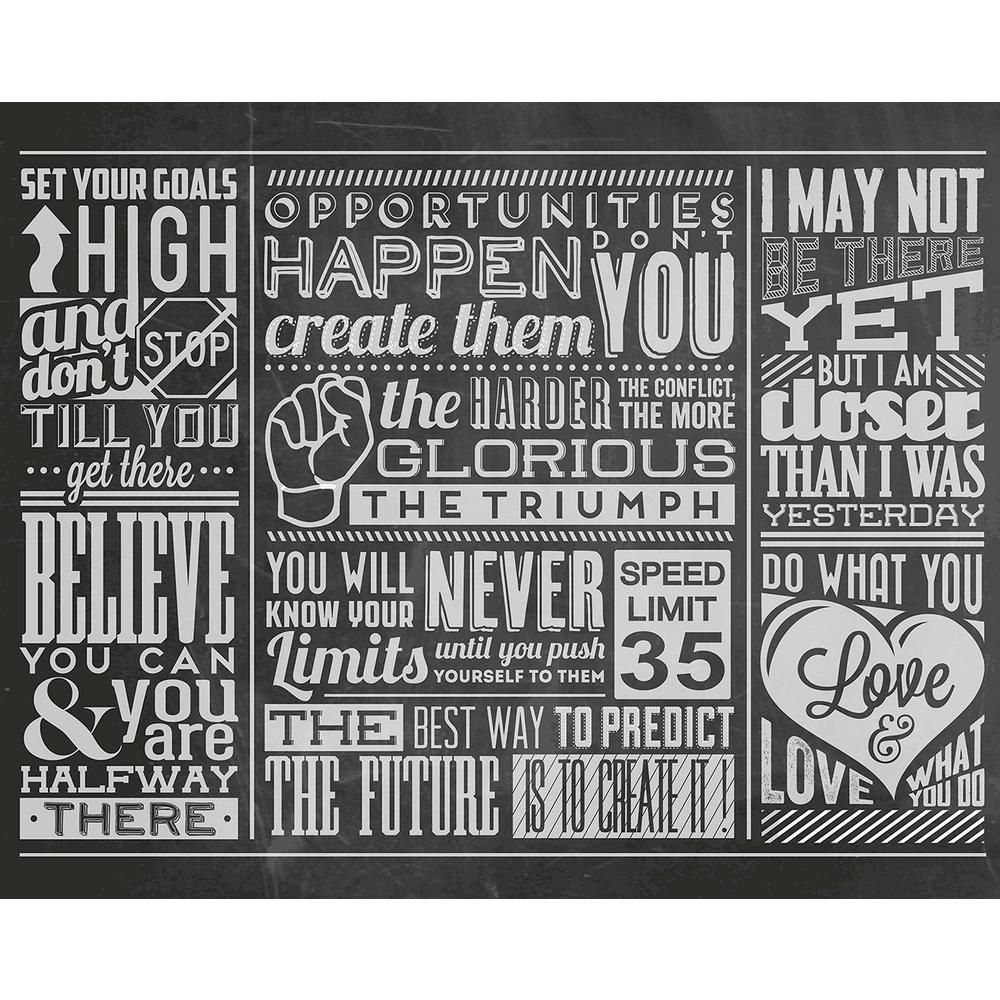 Brewster 118 in. x 98 in. Chalk Quotes Wall Mural | Chalk ...