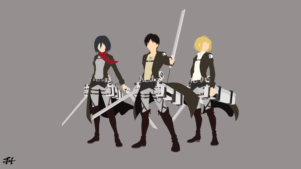 Trio Survey Corps Aot Minimalist Wallpaper By Slezzy7 Hd Anime Wallpapers Anime Canvas Attack On Titan Anime