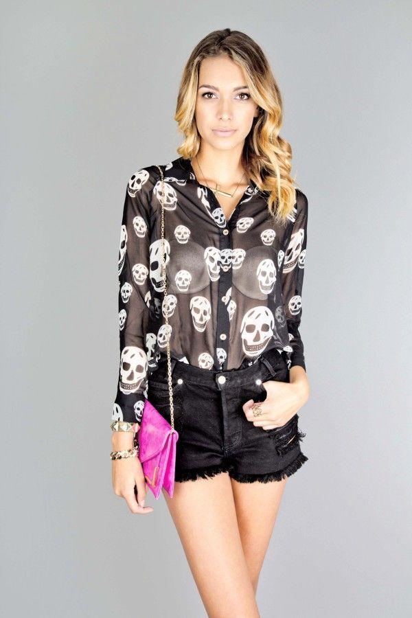 Skull Chiffon blouse