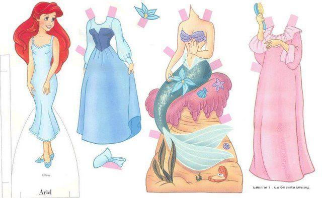 Disney Paper Doll - Ariel | Gabi's Paper Dolls