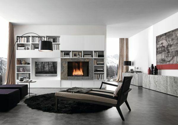 20 idées modernes pour la cheminée design minimaliste