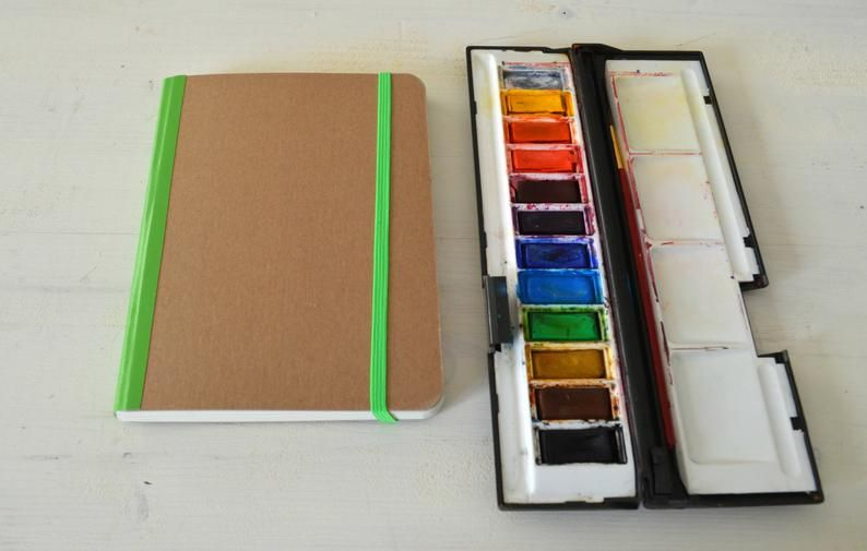 Hardcover Watercolor Journal Drawing Sketchbook Travel Journal