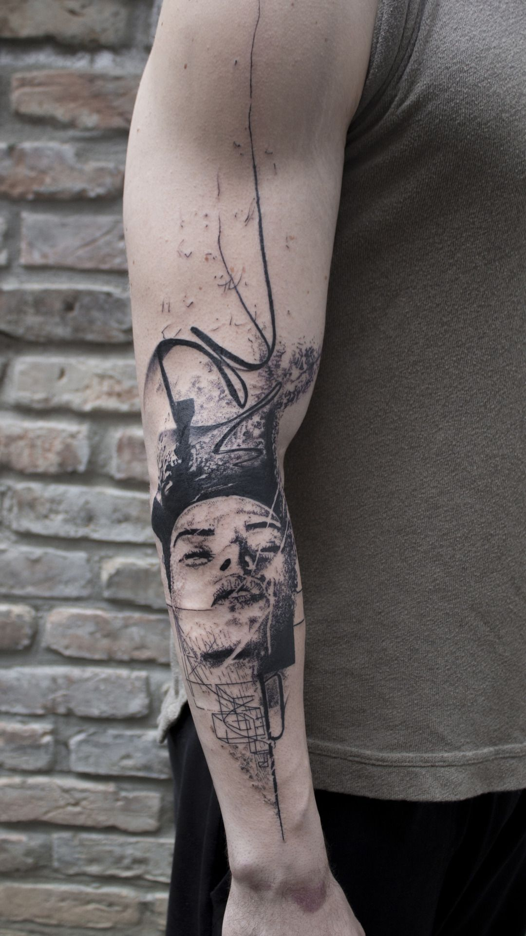 Abstract Tattoo Woman