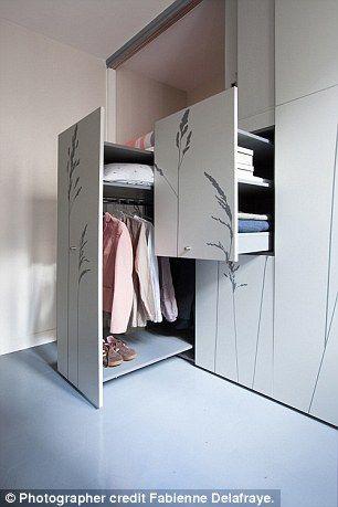 Teeny 86sq Ft Apartment Contains Foldaway Wardrobe Bed
