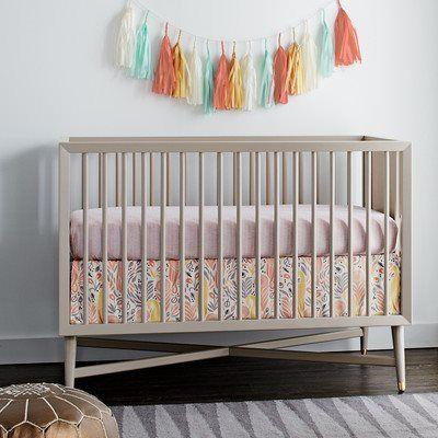 DwellStudio Mid-Century Convertible Crib in French Grey ...