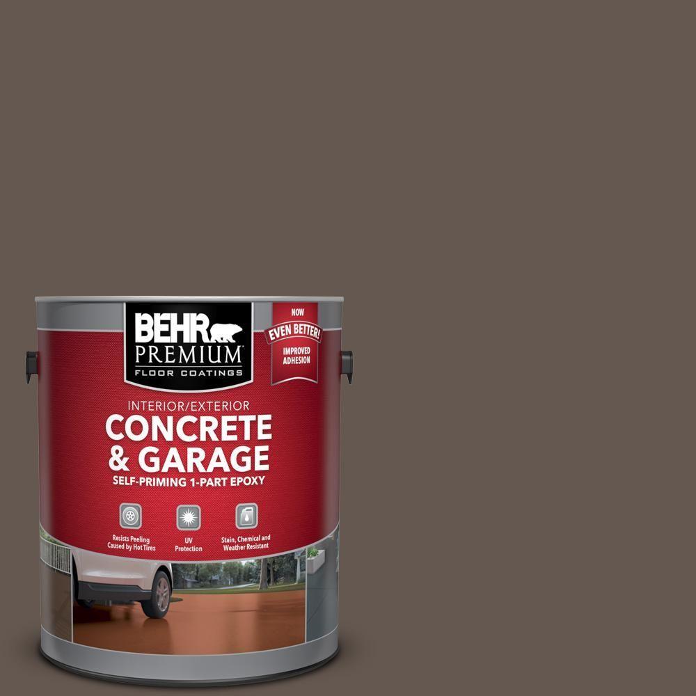 Behr Premium 1 Gallone N200 7 Untergrund Selbstansaugende 1 Teilige Epoxy Satin Innen Aussenbeton Und Garagen In 2020 Bodenmalerei Garage Boden Garagenbodenfarbe