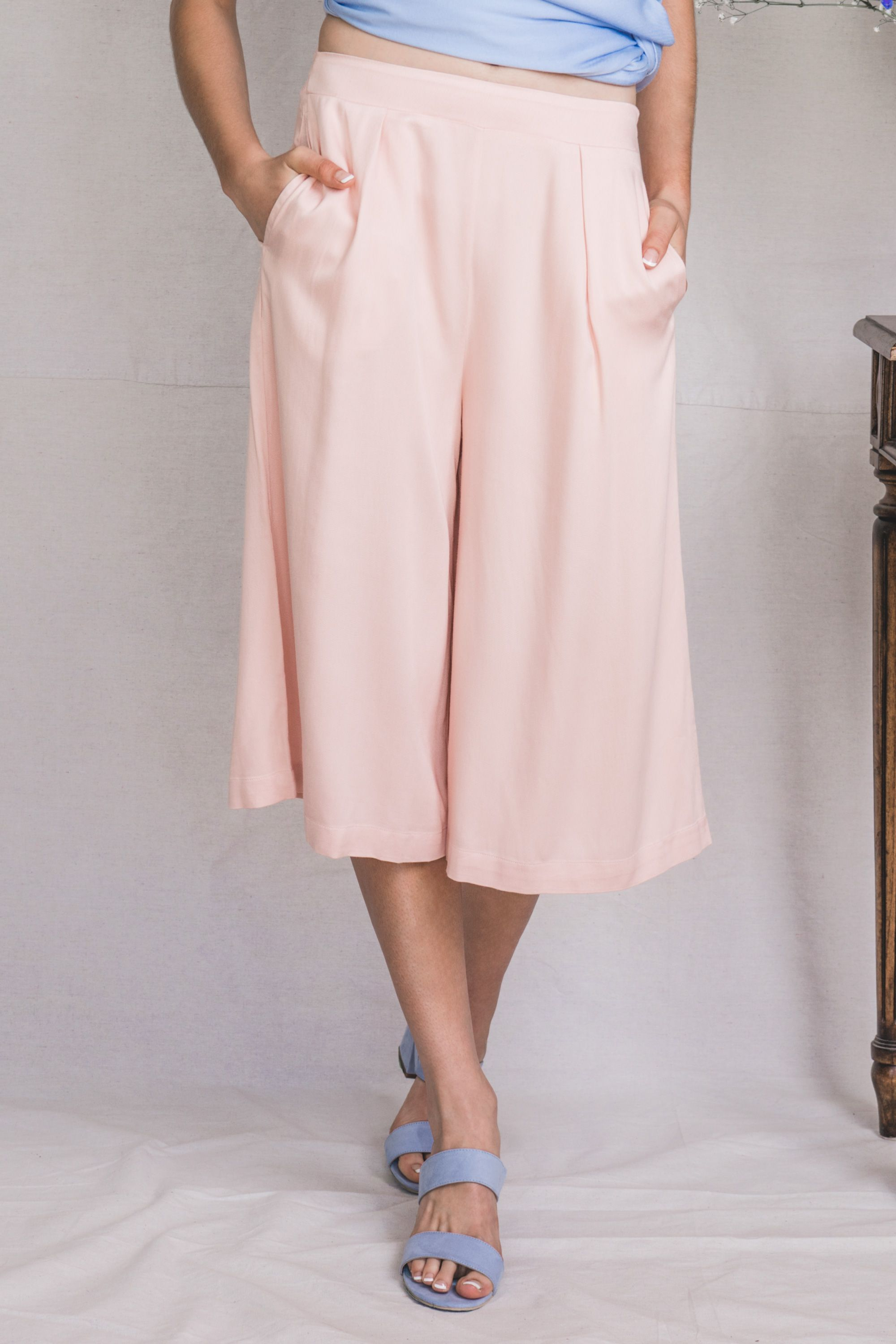 TGB EcoFashion Shop Vela Bamboo Culottes in Rose Quartz Shop here: http://the-great-beyond.com/product/vela-bamboo-culottes-quartz/ | Free Shipping WorldWide Bamboo Clothing