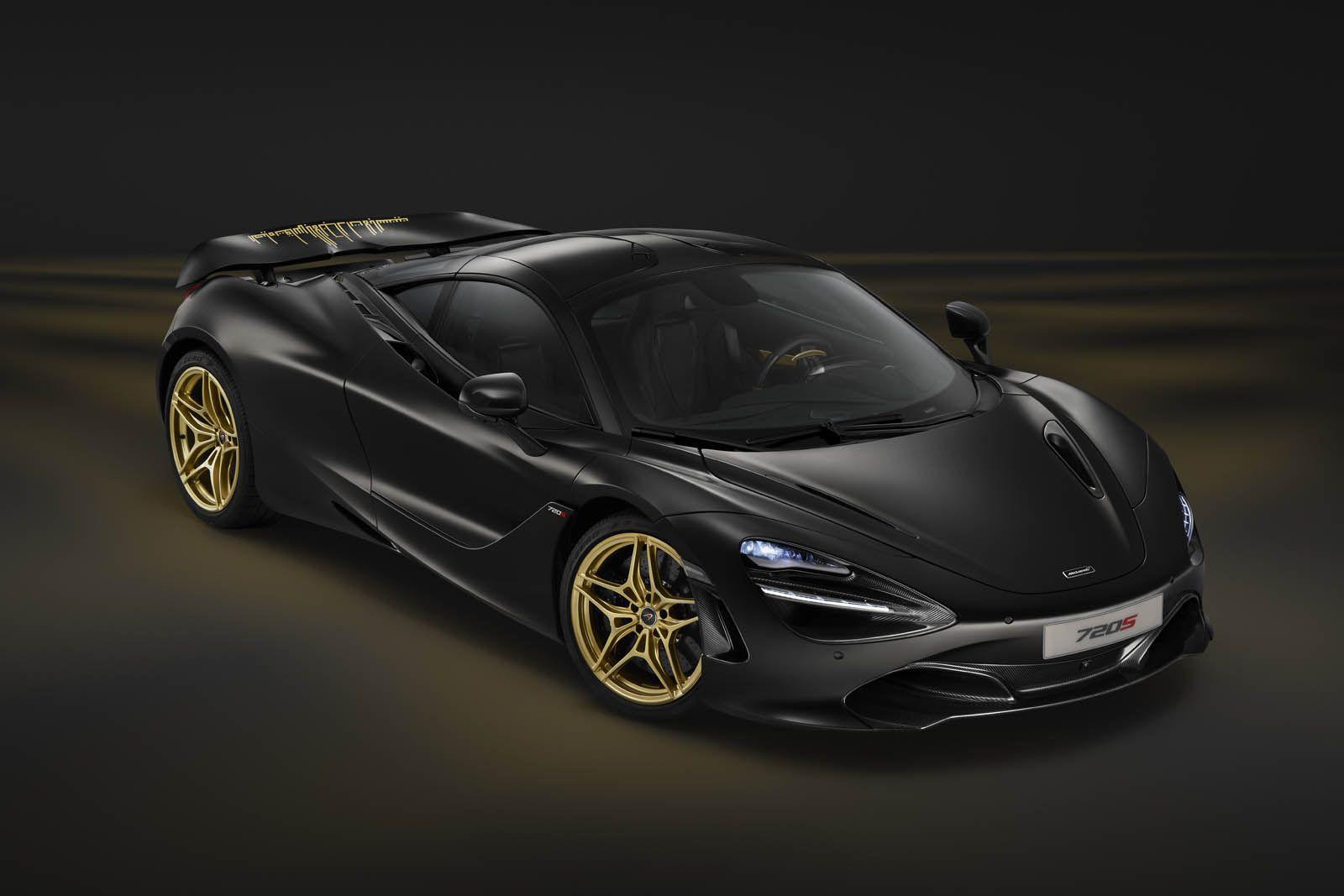 Mclaren S Bringing This Custom Black Gold 720s To Dubai Carscoops Cool Sports Cars Super Cars Bruce Mclaren
