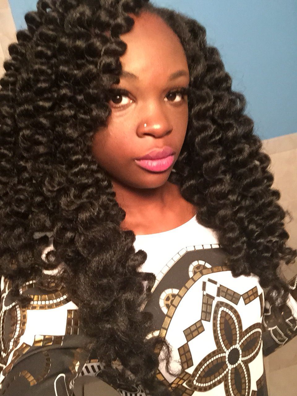 Crochet Braids with Marley Hair and Perm Rods