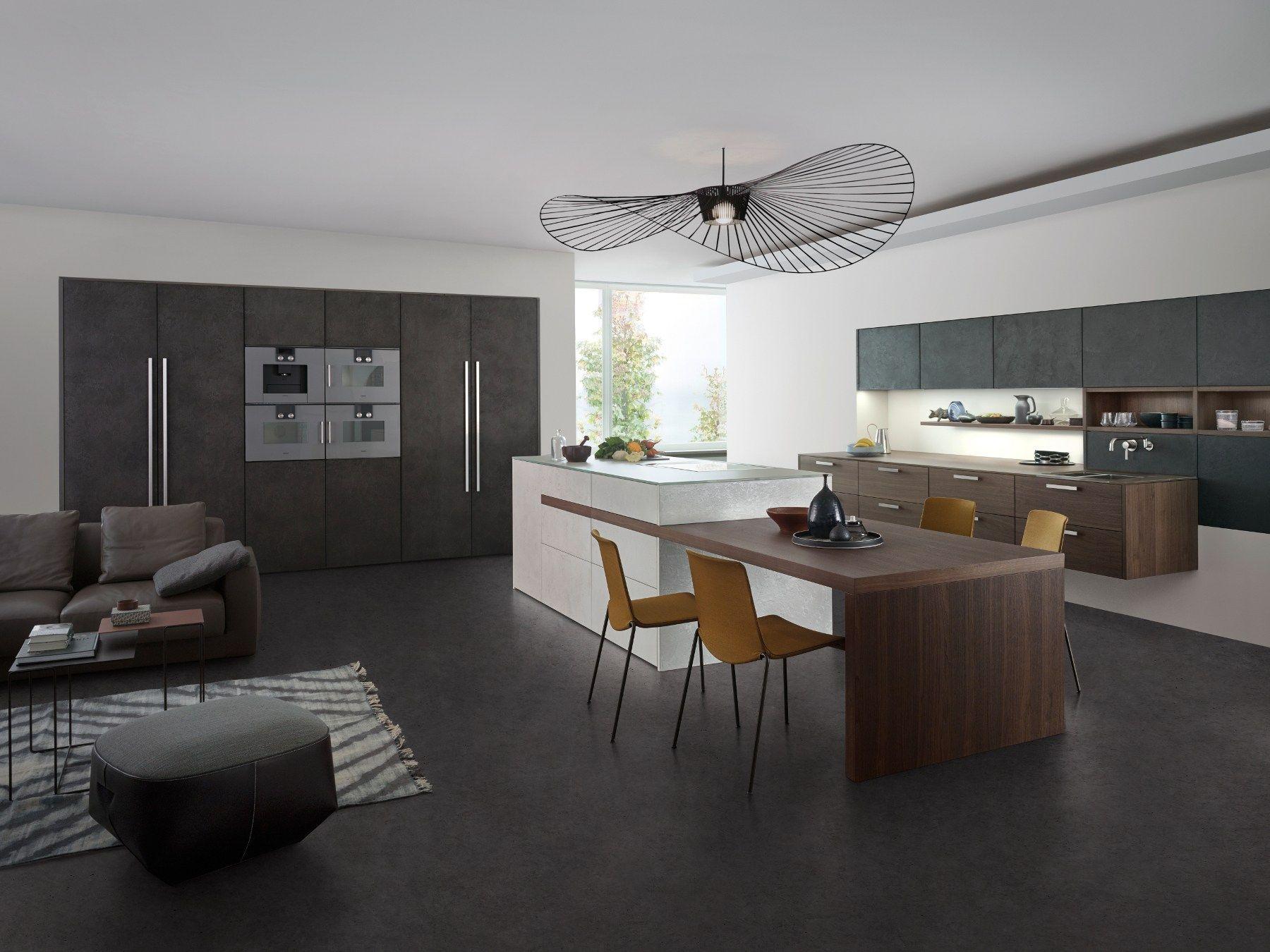 Cocina Con Isla Concrete By Leicht Kuchen Keuken Cuisine Leicht Cuisine Equipee Moderne Et Cuisine Equipee