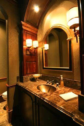 Italian Renaissance Powder Bath Designed By Tracy Rasor And Alana  Villanueva, Dallas Design Group Interiors