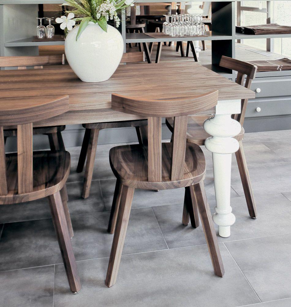 Gervasoni Stuhl Gray 23 Nuss Stuhle Holzstuhle Italienische Mobel