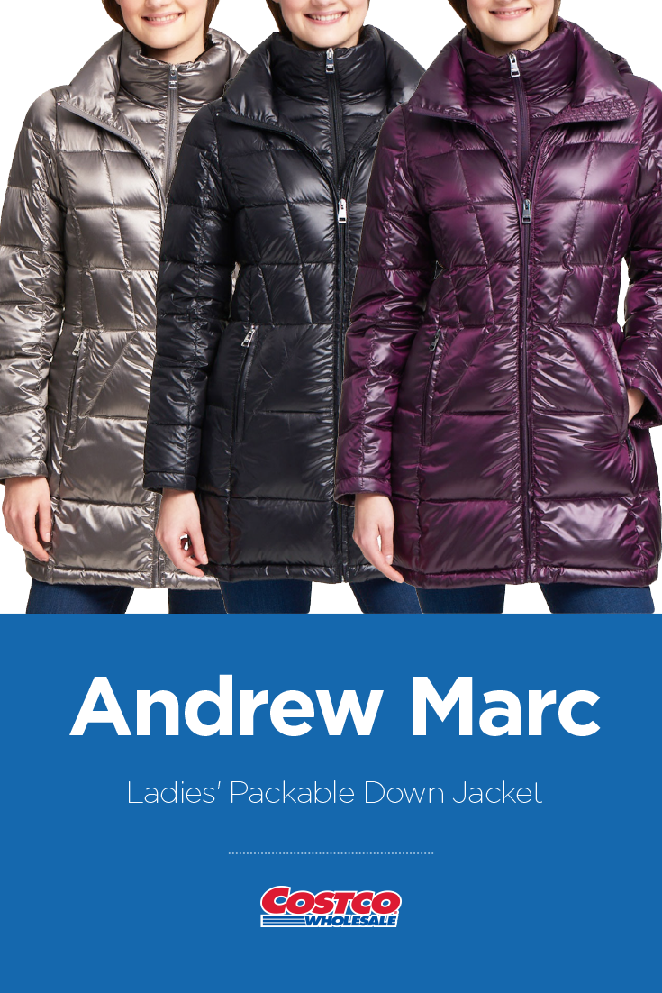Andrew Marc Ladies Packable Down Jacket Costco Fashion