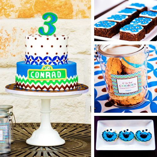 ManuelaS Cookie Monster Theme Party Cake Birthday Boy Kid Ideas Diy Birthdayboy