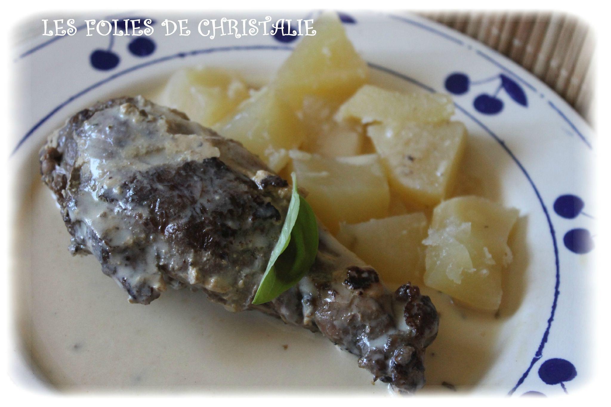 Conejo a la mostaza con patatas.  Lapin à la moutarde 6