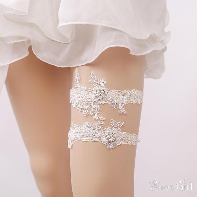Rhinestone garter,Vintage Inspired Garter Set Wedding Garter Set Bridal garter Set Ivory Garter Set