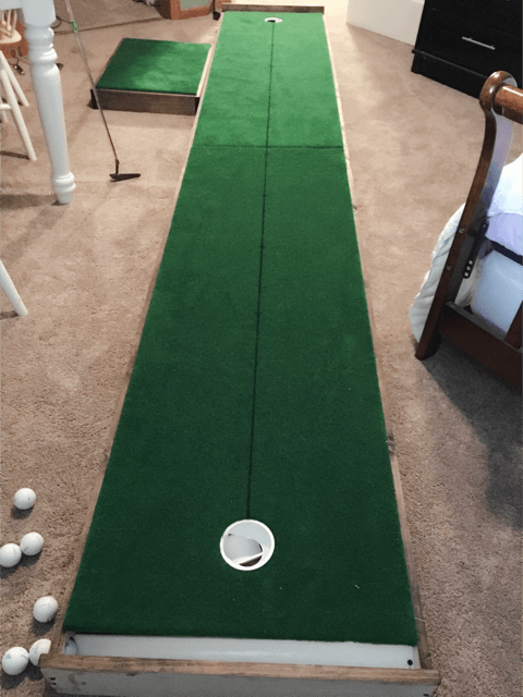 I made a 12ft indoor practice putting green. Check out the full ...