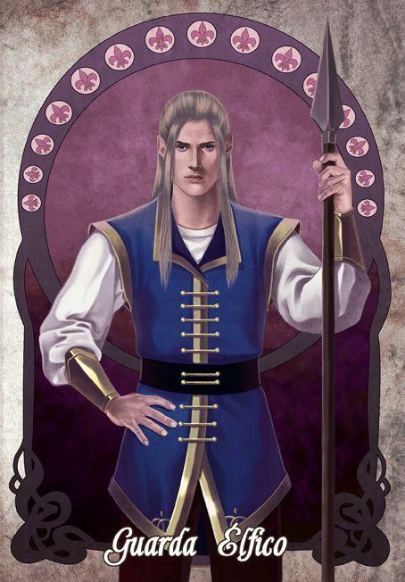 Este é um elfo da guarda élfica de Lua das Fadas! www.linhastortas.com