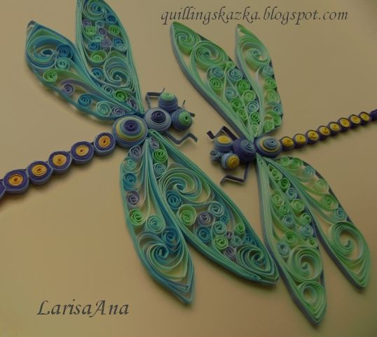 Dragonflies designs @Larisa ana #quilled insects