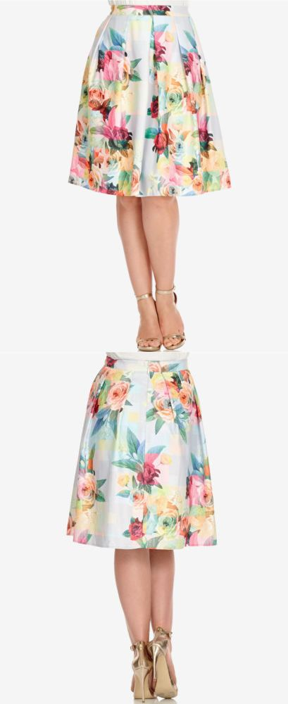 0c851a8ed2 Skirts 175791: City Chic Plus Size Floral Print A Line Skirt Womens Size S  16W Pretty Pink -> BUY IT NOW ONLY: $35.69 on eBay!
