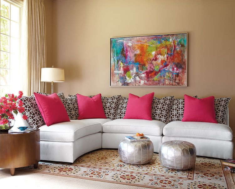 Living Room Ideas Moroccan colour injection painting - living room ideas - living room