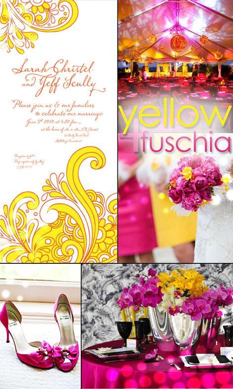 Gorgeous With Fushia And Yellow Destination Weddingwedding Planningwedding Ideaswedding