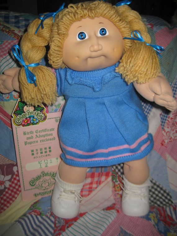 Reserved Tsukuda Cabbage Patch Doll Butterscotch Blonde Etsy Cabbage Patch Dolls Vintage Cabbage Patch Dolls Cabbage Patch Kids Dolls