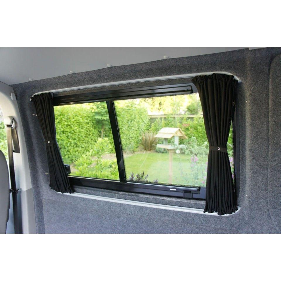 Vw T5 T6 Curtain Kit Black Out Kiravans Campervan Curtains