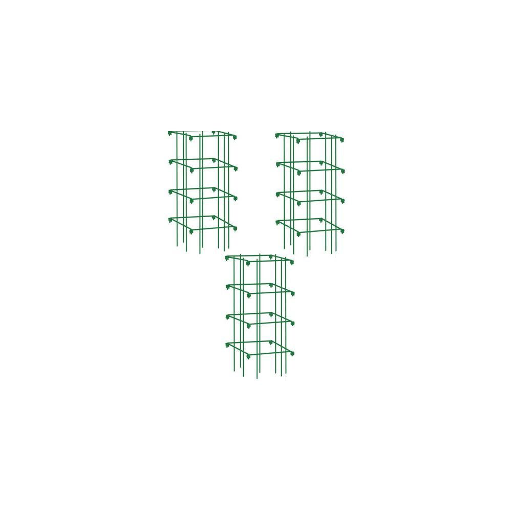 Pepper And Eggplant Cages Set Of 3 Green Gardener S Supply