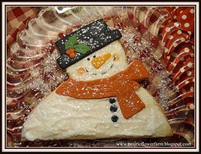 Recipe for Homespun Snowman Cookie on Prairie Flower Farm blog