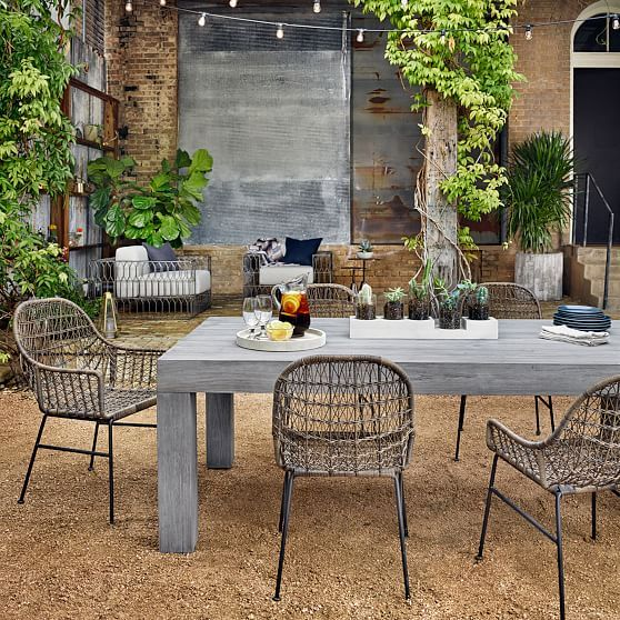 Magnificent Modern Teak Dining Table Weathered Gray Outdoor Dining Uwap Interior Chair Design Uwaporg
