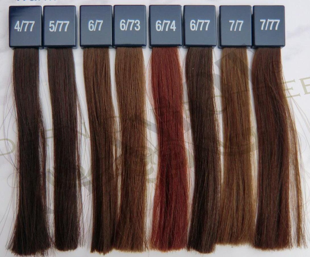 Farbpalette Haarfarben Braun Farbpalette Für Haare Färben