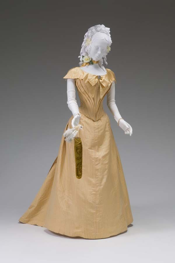 BALL GOWN CIRCA 1880-1885 Place object was created: Chicago, IL ...