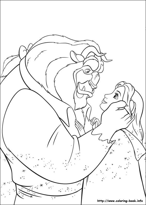 Coloring Page Of Beauty And The Beast Stained Glass