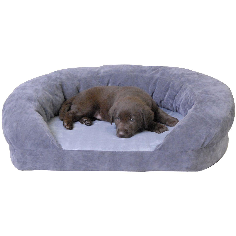 K H Orthopedic Bolster Sleeper Dog Bed In Gray 20 L X 16 W Petco In 2021 Orthopedic Dog Bed Cat Bed Pet Beds