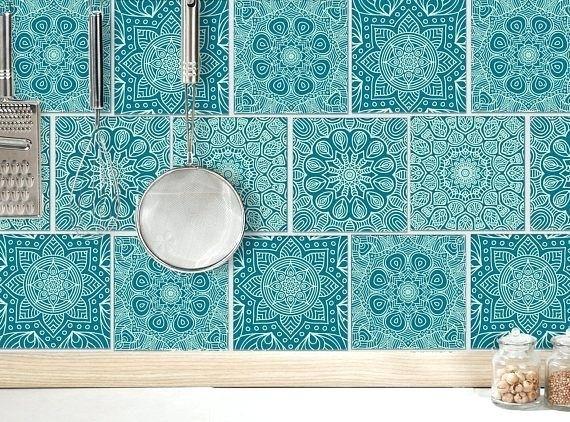 salle de bain indienne good mosaque mandala carrelage autocollant tuile aluminium bleu sarcelle vert menthe pcs