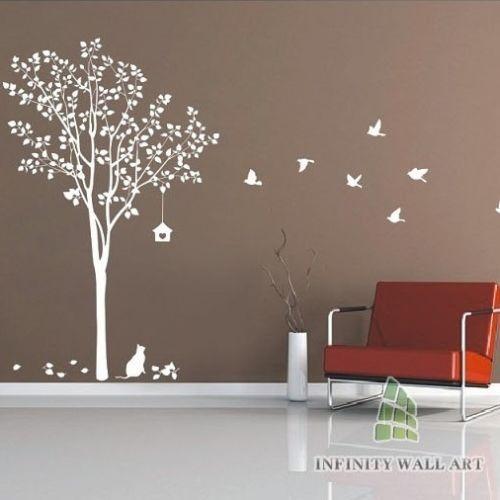 Stylish Tree & Birds Wall Art Decor/wall Stickers / Wall Decals, -- PD368 | eBay
